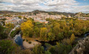Panóramica de estella y el rio