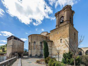 Vista de la iglesia de San Miguel de Estella - Lizarra