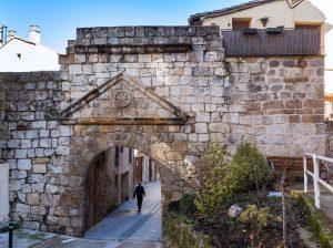 Ruinas del Castillo Mayor de Estella Lizarra y Murallas medievales - Portada de San Nicolás