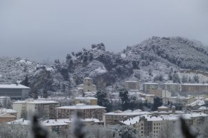 Panorámica de estella nevada