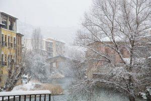 Fotografía del río pasando por estella nevada