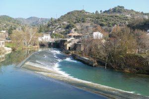 Fotografía aérea del río ega