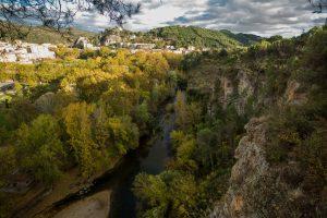 Fotografía aérea del río ega 2