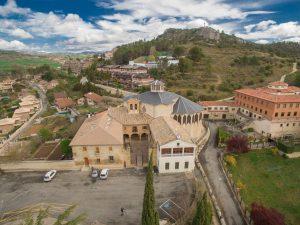 Vista aérea de la iglesia
