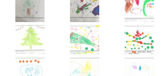 Imagen La exposición de dibujos navideños, este año de forma virtual