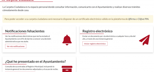 Imagen El Ayuntamiento incorpora la Cl@ve Pin para poder realizar trámites desde la Sede Electrónica