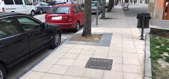 Imagen El Ayuntamiento reforma un tramo de unos 40 metros de acera en Espoz y Mina