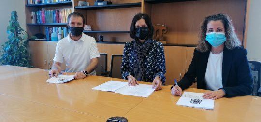 Imagen Firmado el convenio para la ejecución de la ruta ciclable entre Estella-Lizarra y Villatuerta